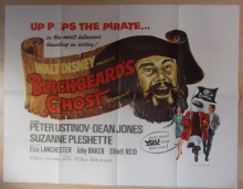 Blackbeards Ghost, Original UK Quad Poster, Peter Ustinov, Dean Jones, '68